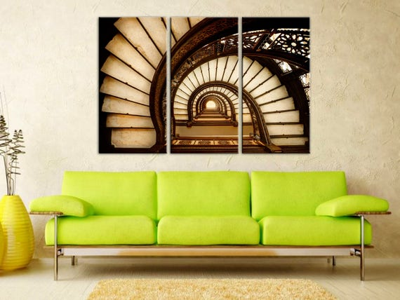 Spiral staircase Wall Art Multi Panel canvas Wall Canvas Print