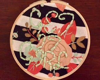 Get It Girl Hand Embroidered Hoop Art