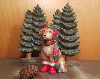 Schmid Christmas Dog Figurine by Gordon Fraser- 1986.