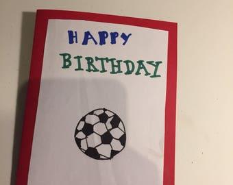 Football birthday card!
