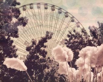 Ferris Wheel - 16x20 photograph - fine art print - vintage photography - ferris wheel carnival - children's art - In stock, limited edition