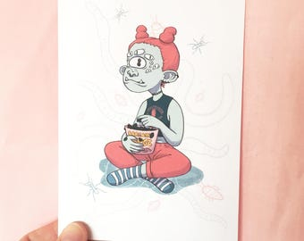 Creeper Girls Postcards