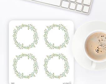FW37 | Wreath Sticker | Decorative Sticker | Watercolor Sticker | Flower Sticker | Planner Stickers | Bullet Journal Stickers