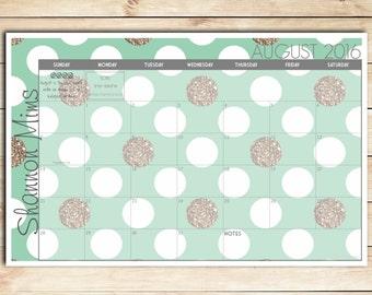 diy pad calendar etsy