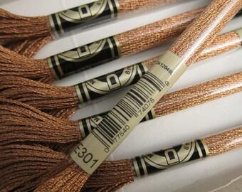 Metallic Copper #E301, DMC Metallic Embroidery Floss - 8m Skeins - Available in Single Skeins, Multi-Skein Pkgs & Full (6-skein) Boxes