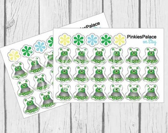 St Patrick's Day Planner Stickers Green Monster Stickers Pot of Clover PS460
