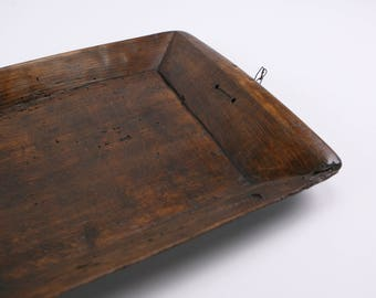 Traditional Italian rustic wooden tray