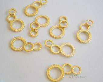 4pcs of gold tone earring chandelier 11x21mm