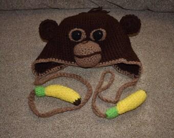 Monkey Hat, Crochet Hat, Kids Hat, Crochet Monkey Hat, Animal Hat, Hat, Hat for Kids, Monkey