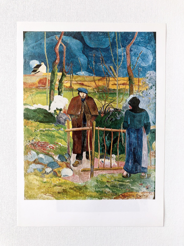 Gauguin Bonjour Monsieur Gauguin 1889 Art Print