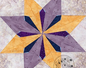 Sunburst Star - Paper Piecing