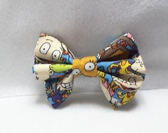 Rugrats hair bows,hair accesories,farbic hair bow