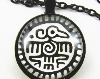THUNDERBIRD Necklace -- Native American totem, Tribal art, Cuauhti Aztec Eagle, Traditional First Nations design, Gift for him or her