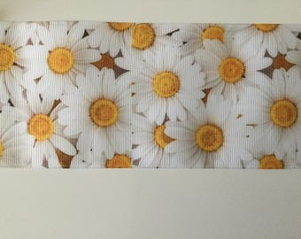 Flower Daisy 3D Ribbon grosgrain
