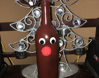 Rudolph the red nose bottle