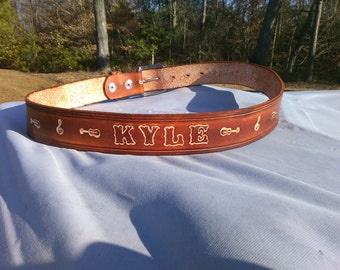Custom Name Belt