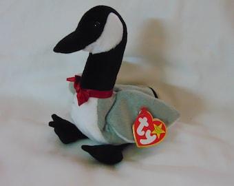 TY Beanie Baby Loosy the Canadian Goose Bird  Birthday March 29 1998
