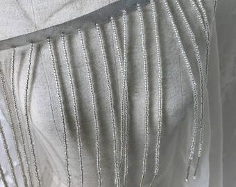 """6.2"""" Wide Long Beaded Fringe Trim With Ribbon For Wedding, Costume Or Decorator Trim New Arrival 2017"""