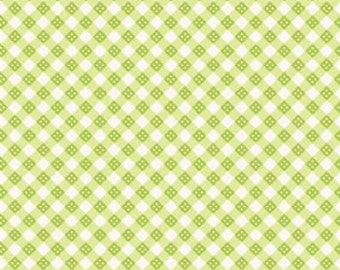 Hello sunshine in plaid fabric by Riley Blake 1/2 yard or more