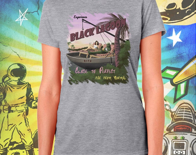 Creature from the Black Lagoon / Women's Gray Performance T-Shirt