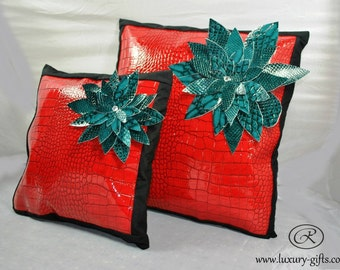 Modern, vintage, cushions, Sparkling, glossy, modern designer cushion,vinyl eco friendly leather,amazing creative decor