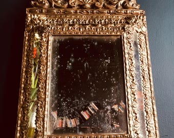 Antique French Rococo Cushion Mirror