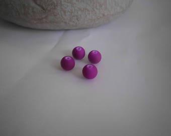lot de 10 perles acrylique rond fluo 8mm