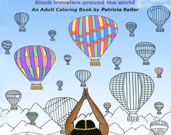 WE TRAVEL in COLOR adult coloring book