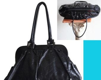 Vintage Helen Welsh Black Leather Handbag