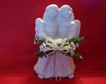 Christmas Singing Angels Candle Holder, Candle Holder, Angels, Christmas Candleholder, Christmas Decor