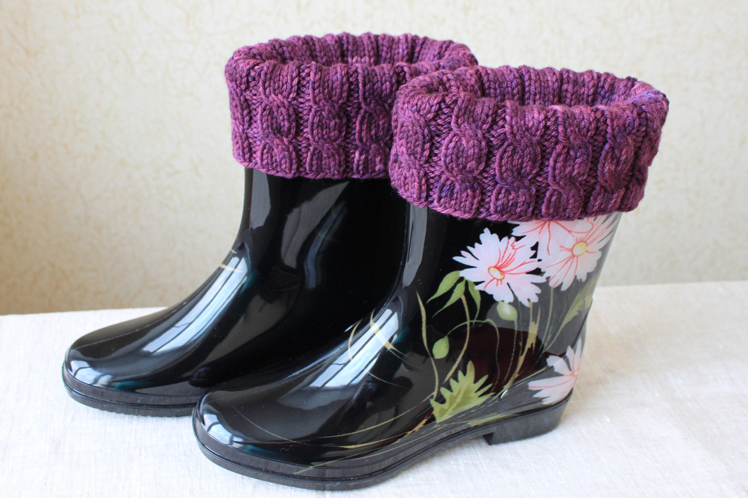 KNITTING PATTERN, Boot Toppers, Boot Cuffs, Cabled Boot Cuffs ...