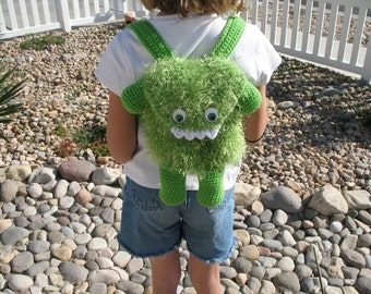Crocheted Furry Monster Bag Pattern