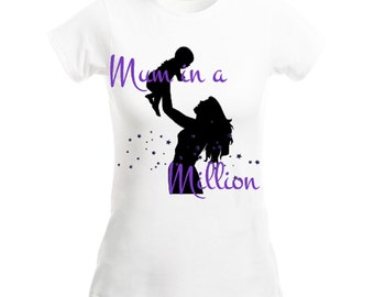 Ladies Mum/Mom in a Million mother's day tee top fitted t-shirt