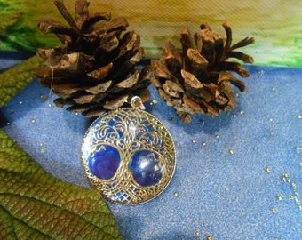 Tree of life handmade pendant, 30 mm stainless steel