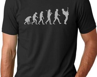 Guitar Player Evolution T shirt Musician t shirts guitarist shirts Gifts for men Guitar tees Music shirts Bass guitar shirt Electric guitar