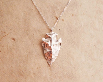 Silver Arrowhead Necklace
