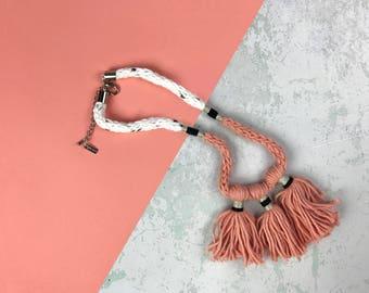 Knit Tassel Necklace