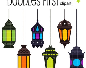 Lantern clip art etsy for Clip lights for crafts