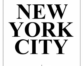 New York city print, nyc print, new york skyline, city print, prints, minimalist prints, physical print,
