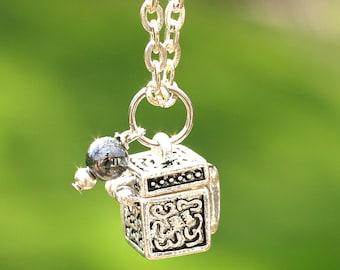 Fertility Wish Box Prayer Necklace Religious Jewelry Gift