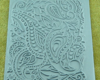 PAISLEY Lisa Pavelka Retro Paisley Rubber Stamp for Texture, embossing, and inking