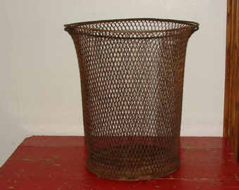 1920s Trash Basket NEMCO School or Industrial Waste Paper Basket City Industrial Chic Very Cool Larger Can