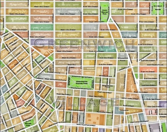 Greenwich Village NY Map