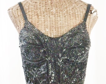 Victoria's Secret Bustier Beaded Apparel Club Dance Exquisite