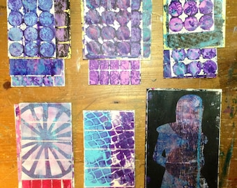 Gelli Printed Stickers