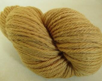 Hand-Dyed Bulky Yarn - Cedar Bark Plant Dye - 100% Wool - YAB101756 - 100 grams