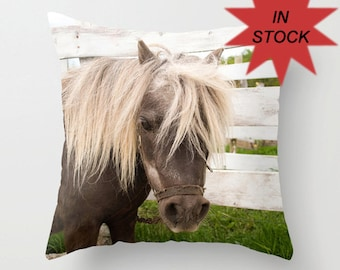 Equestrian Decor Pillow Case, Horse Lover Gift, Farmhouse Chic Style, Master Bedroom Decor, Horse Photography, Equine Pillow Cover