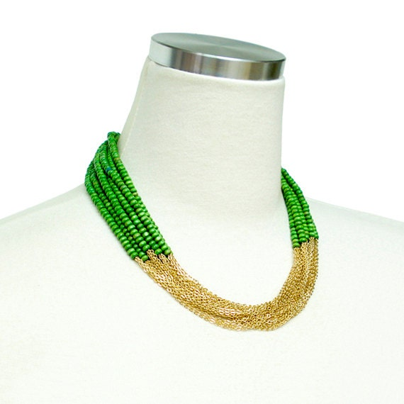 Boho Chic Necklace - Green