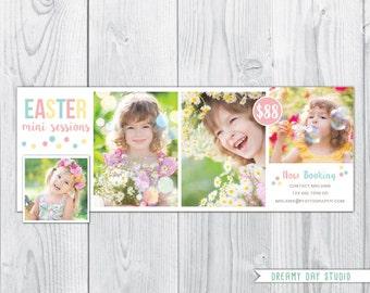 Spring Facebook timeline / easter Facebook timeline / spring mini session template / easter mini session / easter mini / PSD / photography