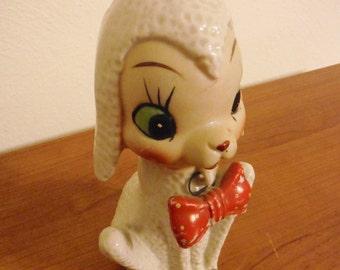 Vintage ceramic skinny lamb figurine